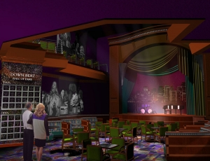 Raleigh Design relied on AST to sketch up 3D color renderings for their Downbeat Jazz Hall of Fame concept.
