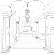 AST was called upon by Raleigh Design to create 3D line drawings for this upscale condo project.