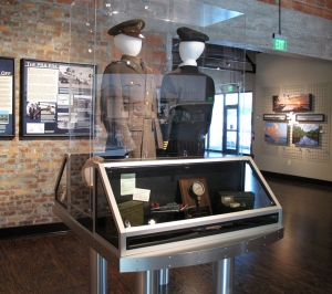 AST Exhibits designed and built this custom display case to reflect the style of various WW2 aircraft.