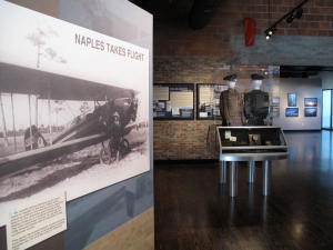 Before the airfield was built, planes used the Naples Hotel golf course for a landing strip. AST Exhibits recognized this was a great way to begin telling the story of aviation in Collier County.