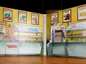 The Cafeteria set from Arthur's school.