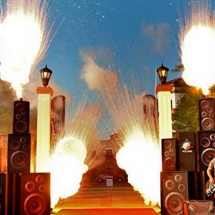 AST decided that blowing the gates open with a stack of speakers was more appropriate than a traditional ribbon cutting.