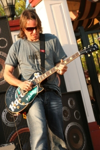 Ryan Newell of Sister Hazel was chosen to play the chords that would blow the gates to the park open.