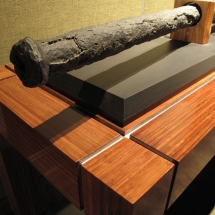 AST Exhibits designed and built this table to securely display a 16th Century Spanish versos cannon.