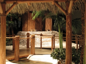 AST Exhibits hand-selected native cypress lumber to construct structural aspects of the Calusa exhibit.