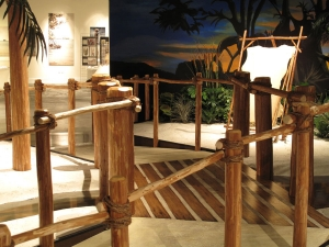 Freshly-cut native cypress lumber was dried at the AST Exhibits facility in a kiln built specifically for this project.