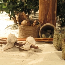 Calusa style shell tools were researched and recreated by the AST art team.