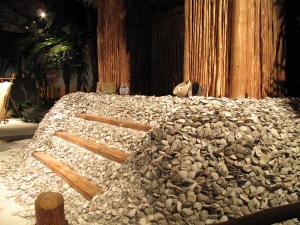 Our shell mound is hollow inside but strong enough to support the weight of two automobiles.