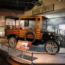 When recreating Frank's Garage for the Naples Depot Museum, AST Exhibits carefully matched the decorative roofline, the hand painted sign from 1927 and even found a Ford Model T.