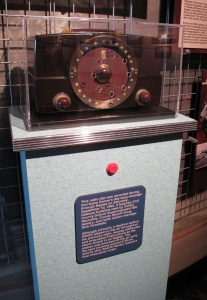 Thanks to AST Exhibits, visitors to the museum can travel back in time by pushing a button and experience actual Hurricane Donna broadcasts streaming from a vintage radio.
