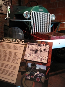"""The """"Tumble Bug"""" was built in Frank's Garage which is highlighted in another exhibit of the museum."""