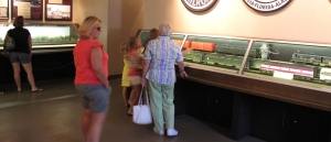 Trains are very popular with younger museum visitors. AST Exhibits designed these display cases to provide a great view for guests of all ages.