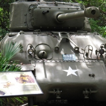 "The positioning of an outdoor sign can be impactful. You cannot read this graphic without staring down the ""business end"" of a Sherman Tank."