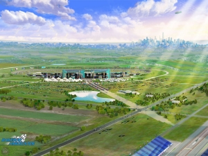 AST created this 3D rendering for a proposed race track in the suburbs of Chicago.