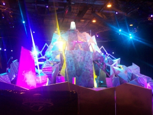 The finale of each episode involved scaling the 22 foot tall Aggro Crag.
