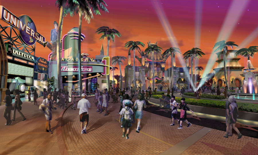 Theme Park Hub at Night | Museum Exhibit Design | AST Exhibits