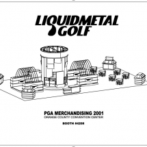 The highlight of AST's design was a series of fountains that launched streams of water over a putting green.