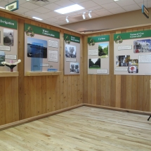 AST Exhibits used visual comparison in this display to demonstrate the amount of water that can be conserved by using drip irrigation.