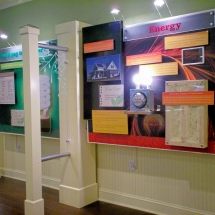 The exhibit highlighted the various green technologies used in construction of the HGTV Green Home.