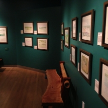 Exhibit installed for the first show at the Mennello Museum in Orlando, Florida.