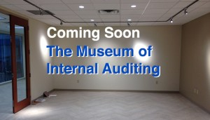 A partial view of the gallery that will house The Museum of Internal Auditing